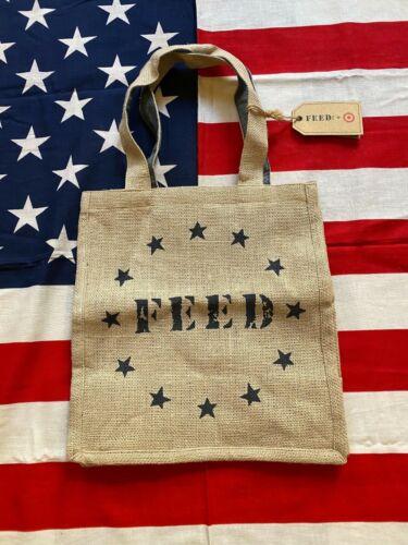 NWT FEED America USA Reusable Burlap Bag 100% Jute New Target