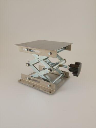 "Lab Jack Lifting Stand Platform 4"" (10x10cm) and 6"" (15x15cm) square sizes"