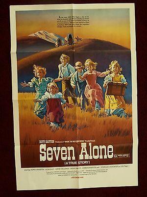 Seven Alone (1974) Original Movie Poster Dewey Martin Aldo Ray Doty-Dayton