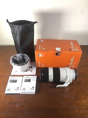 Sony SEL 70-200mm F/4 OSS G FE E-Mount Zoom Lens MINT BOXED