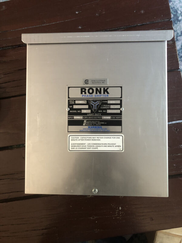 Ronk Phase Shifter 3HP 480V