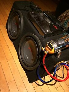"""Two 12"""" Alpine Type R Subwoofers in sealed box"""