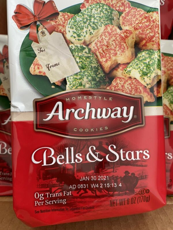 Archway Bells And Stars Holiday Cookies 12-5oz Boxes