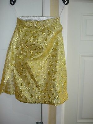 ladies gold  wrap around skirt copy  (bucks fizz style) theatre