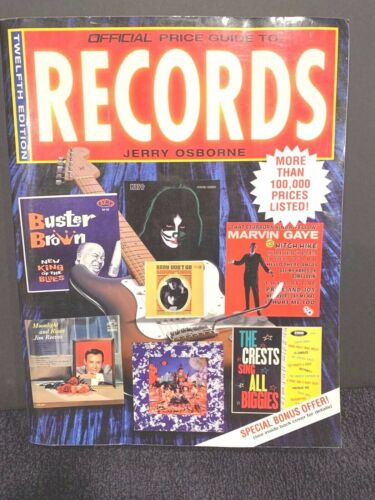RECORD PRICE GUIDE!-Official Price Guide to Records-Jerry Osborne-1997-NM!