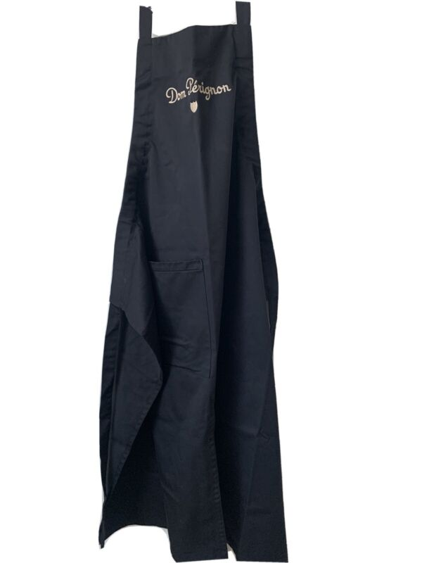 Dom Perignon Champagne Sommelier Apron New Black Embroidered Logo Spell out OSFA