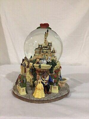 Vintage Disney Beauty and the Beast Castle Snow Globe
