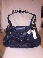 Hogan Borsa Blu In Pelle Logo Inciso Parti Pitonate - hogan - ebay.it