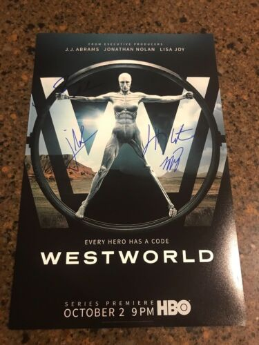 * WESTWORLD * signed autographed 12x18 photo poster * WRIGHT, NOLAN, JOY * 2