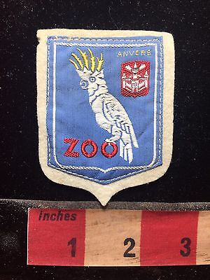 Vtg Souvenir ANVERS ZOO ANTWERP BELGIUM Jacket Patch ~ Tropical Bird 75R