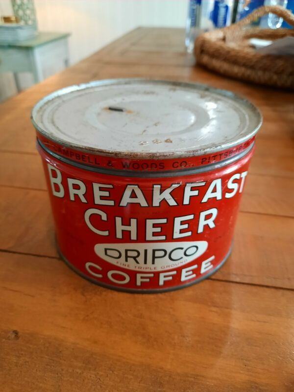 Vintage1lb Breakfast Cheer Dripco Coffee Can