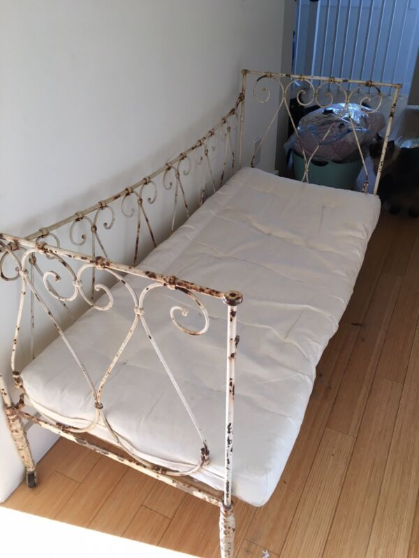 Antique French 1800s Iron Folding Day Bed - So Many Uses
