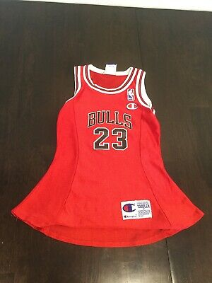 Chicago Bulls Michael Jordan Red Champion Toddler Jersey - Chicago Bulls Dress