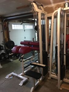 Lat Pulldown and Preacher Bench