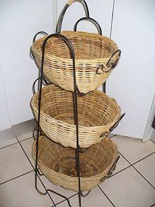 CANE BASKETS ON METAL STAND Coombabah Gold Coast North Preview