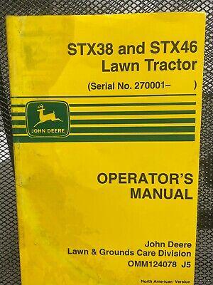 John Deere Stx38 Stx46 Lawn Tractor Operators Manual Omm124078 D-2