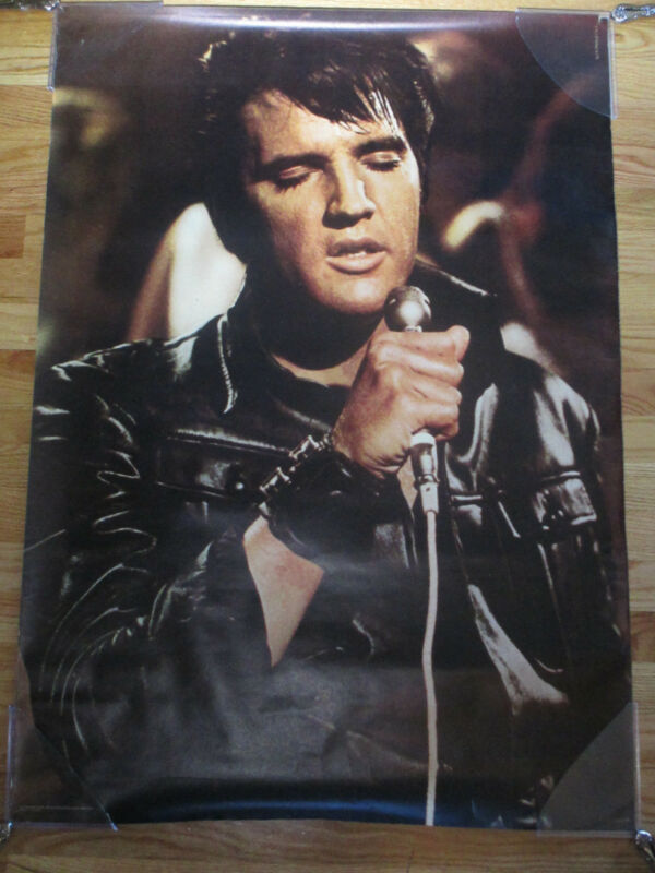 Vintage Original Personality Posters ELVIS PRESLEY w/ LEATHER in Concert Poster