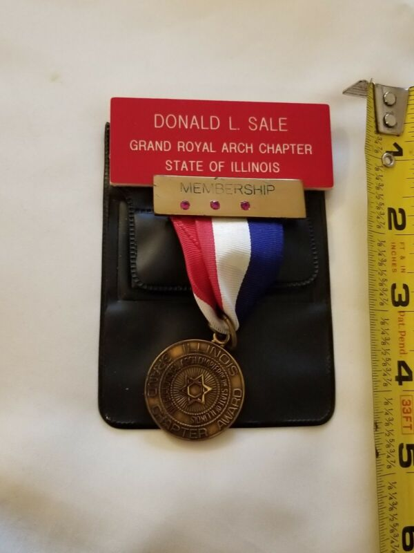 Grand Royal Arch Chapter of Illinois -  Masonic Medal -Name tag can be removed