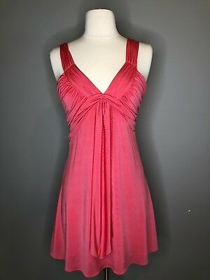MARCIANO Backless Lowcut Peach Babydoll Dress Size XS NWT $148