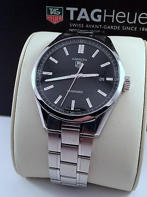 2012 Tag Heuer Carrera Calibre 5 Mens Watch Automatic in Mint Cond. WV211B