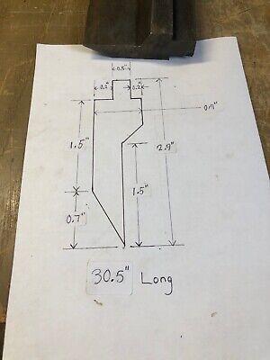 Press Brake Upper V Die 30.5 Niagra Wilson Di Acro Amada Chicago 1r350