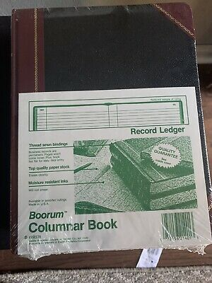 4boorum Pease Columnar Book Record Ruling 150 Pages 10 38 X 8 38 21-300-r