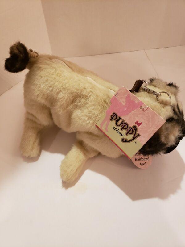 NWT Puppy At  Heart PUG Dog Purse Plush Hand Bag Girls Christmas Kids Gift