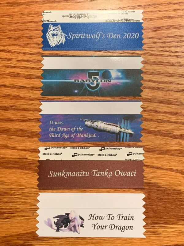 DragonCon 2020 Exclusive Badge Ribbons Set Of 5 Plus Poker Chip