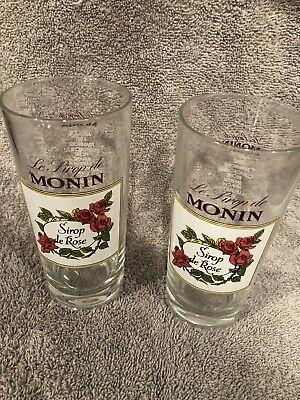 TWO Le SIROP DE MONIN - SIROP DE ROSE DRINKING GLASSES