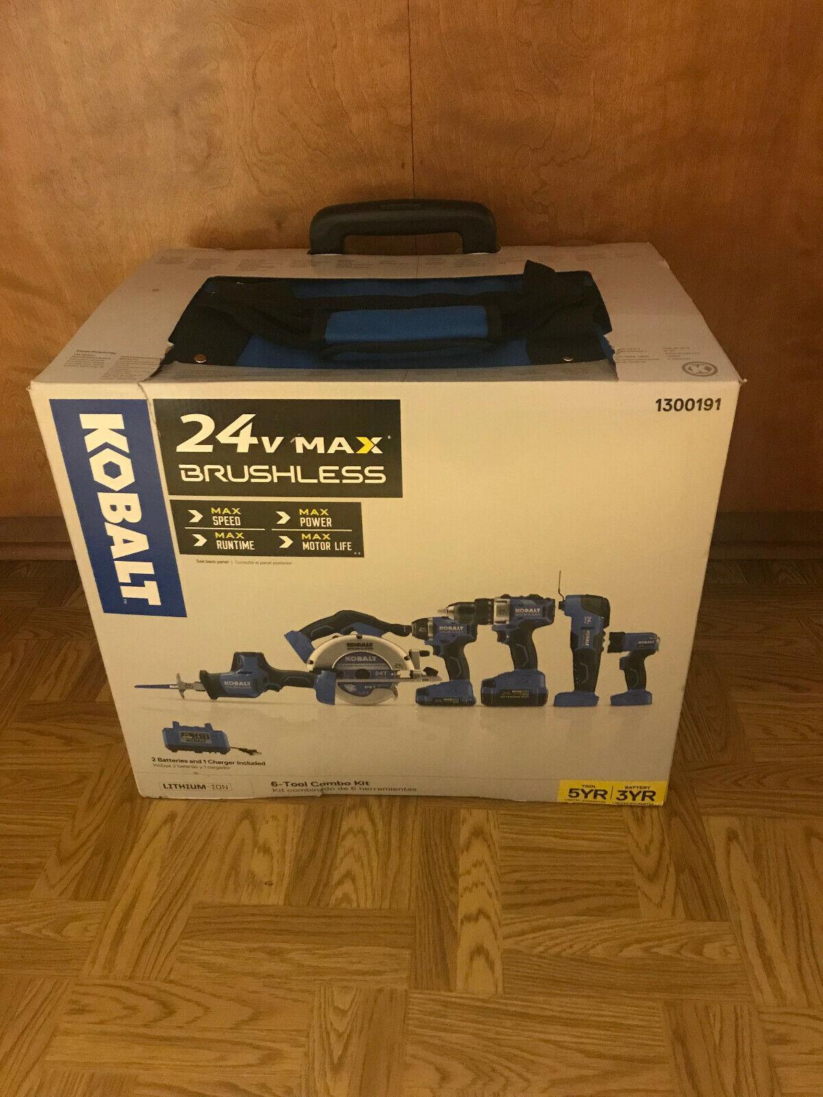 Kobalt 6-Tool 24-Volt Max Brushless Power Tool Combo Kit wit