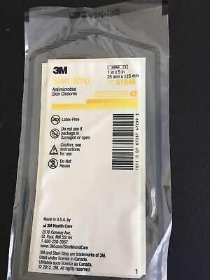 3m A1848 Steri-strip Antimicrobial Skin Closure Reinforced Lot 10