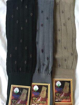 3 Pair 100% Men Mercerized Egyptian Cotton Ribbed Over The Calf Dress Socks 9-11 (Mercerized Dress Socks)