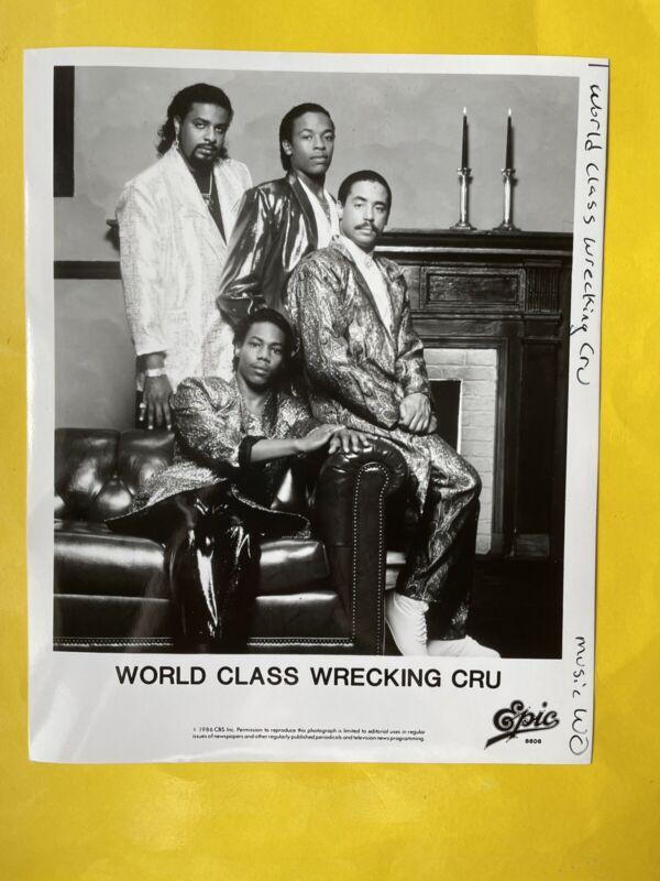 "World Class Wrecking Cru Press Photo 8x10"", Dr. Dre, DJ Yella, Epic 1986."