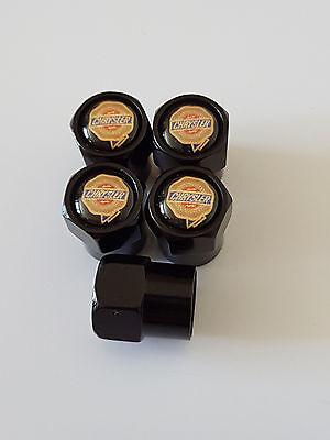 5 X CHRYSLER Black car Valve Alloy wheel dust Caps All models 300 200 Sebring