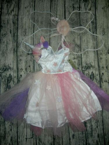 NEW Pottery Barn Kids Light Up UNICORN Tutu Fairy Costume 4-6 $99 Party Dress up