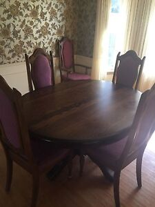 Beautiful real wood dining room set and hutch