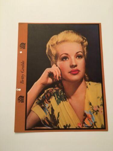 S10) Vintage Betty Grable 20th Century Fox Actress 8x10 Publicity Photograph