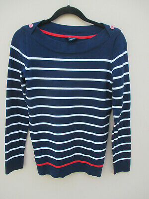 Nautica size S navy& white stripe soft stretch cotton long sleeve top