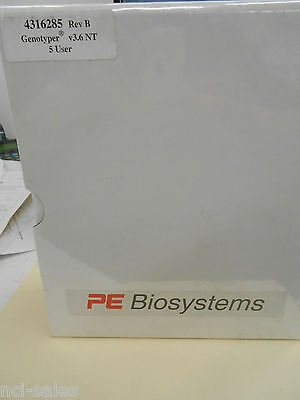 Sealed Abi Prism Pe Biosystems 4316285 Rev-b 5 User Genotyper V3.6 Nt Software