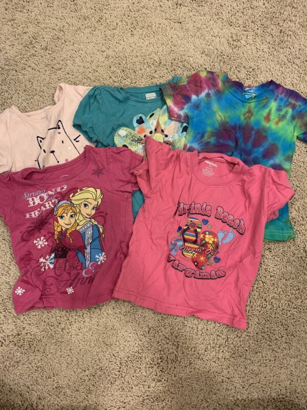 Lot Of Girls Toddler T-Shirt Size 2, EUC