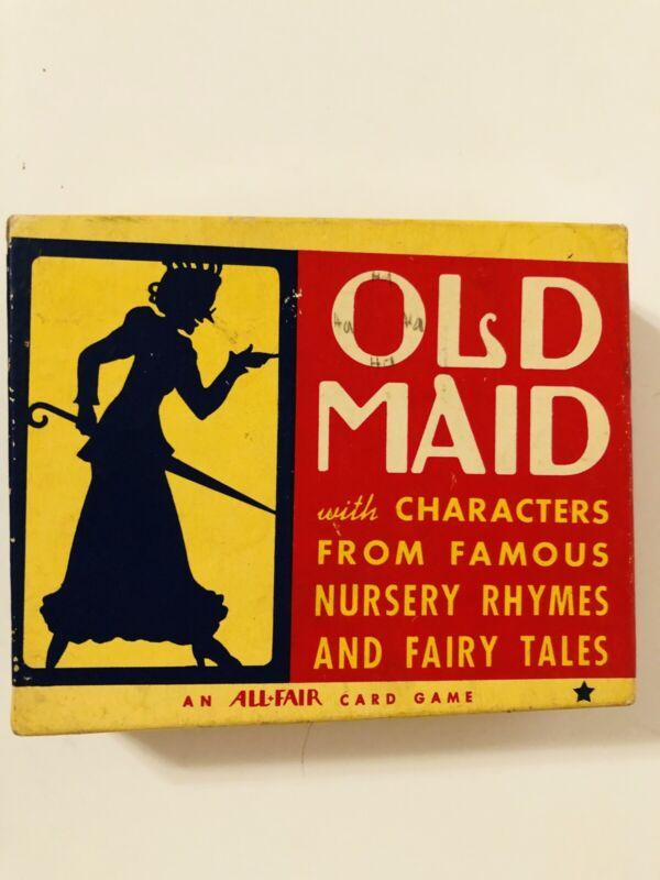 1930s Vintage Old Maid Nursery Rhymes and Fairy Tales Incomplete