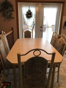 Kitchen Table (60 in. Length) & 6 chairs