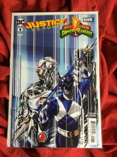 JUSTICE LEAGUE MIGHTY MORPHIN POWER RANGERS #1~DC BOOM STUDIOS 1st PRINT