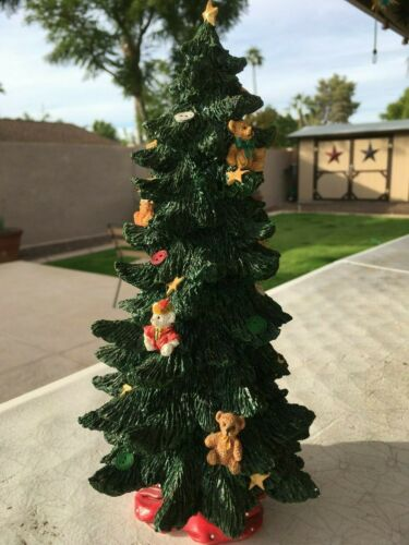 Teddy bear Christmas tree statue
