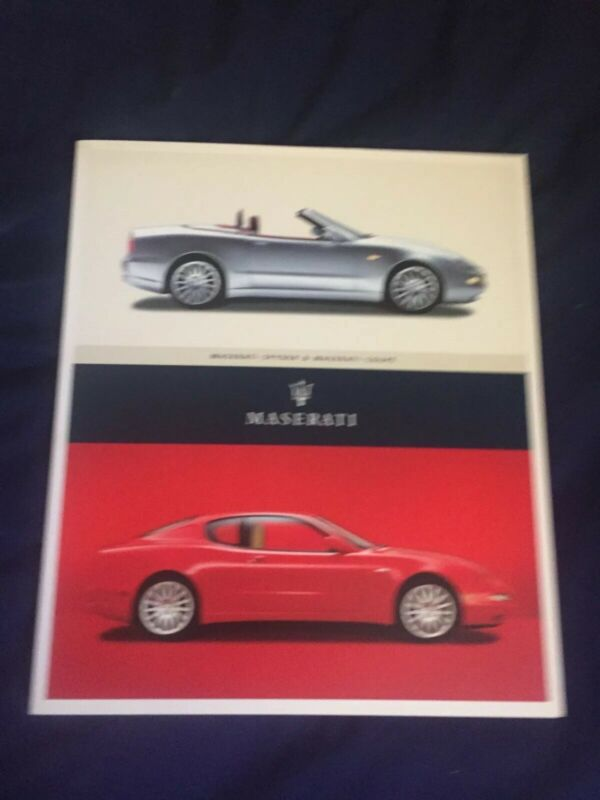 2003 Maserati Coupe Spyder GT and Cambiocorsa Color Brochure Prospekt
