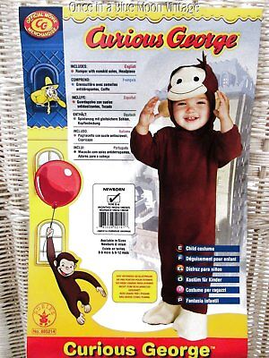 Rubies 0-9 mos Baby Boy Girl CURIOUS GEORGE Monkey 2 Pc Costume - Curious George Baby Costume