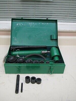 Greenlee 7306 12 - 2 Hydraulic Knockout Punch Driver Set Used Ships Free 2
