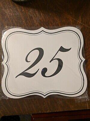 Wedding Reception Table Centerpieces (White Wedding Reception Table Number Cards Double Sided Centerpieces)