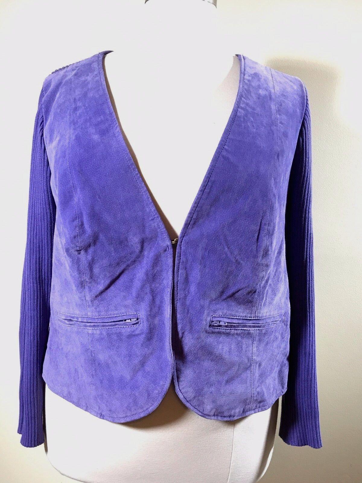 JESSICA LONDON Plus Size 18/20 Purple Suede Leathe