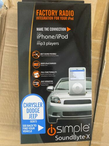 ISIMPLE ISCH73 IPOD INTEGRATION CHRYSLER 300 DODGE CHARGER MAGNUM